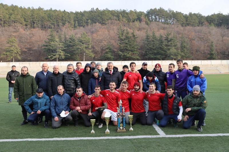 Анатолий Бибилов посетил финал Республиканского турнира на Кубок Президента Южной Осетии по футболу