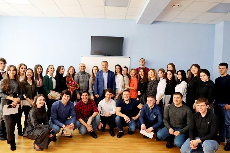 Встреча со студентами ЮОГУ им. А. Тибилова