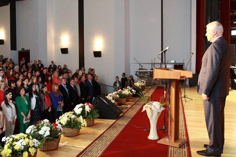 Торжественное собрание в честь празднования 7-ой годовщины Дня признания независимости Республики Южная Осетия Российской Федерацией (часть II)