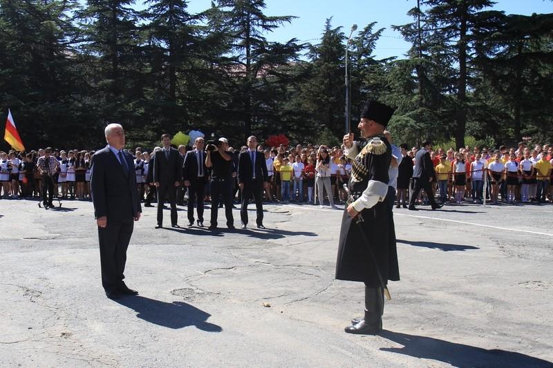 Церемония подъема Государственного флага Республики Южная Осетия (часть I)