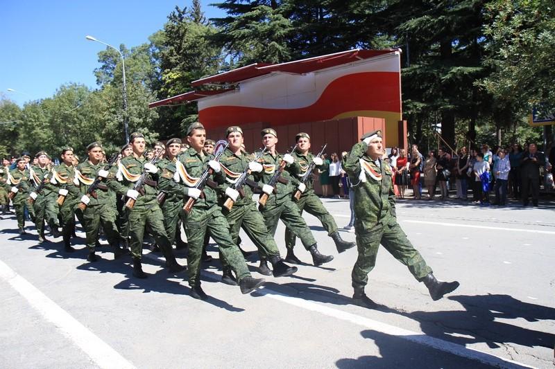 Церемония подъема Государственного флага Республики Южная Осетия (часть III)
