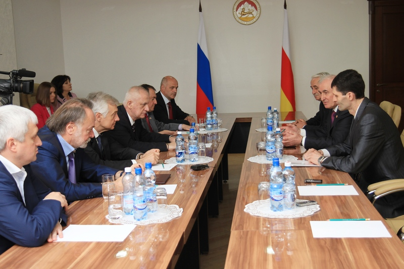 Встреча с Главой Республики Северная Осетия-Алания Тамерланом Агузаровым (часть I)