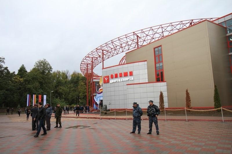 Церемония открытия Дворца спорта «Олимп», построенного под патронатом Благотворительного фонда Алины Кабаевой (часть I)