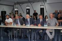 1. Церемония открытия боксерского зала во Дворце спорта «Олимп»