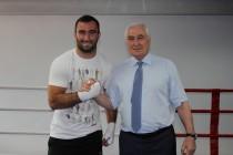 7. Церемония открытия боксерского зала во Дворце спорта «Олимп»