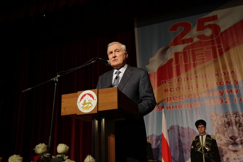 Торжественное собрание в честь 25-ой годовщины проведения Референдума о независимости Республики Южная Осетия (часть II)