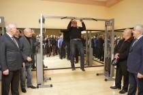 6. Церемония открытия спортивного зала на ул. Остаева в г. Цхинвал