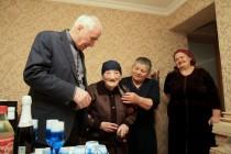 6. Поздравление с Международным женским днем долгожительниц Цхинвала