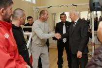 7. Церемония открытия спортивного зала на ул. Героев в г. Цхинвал