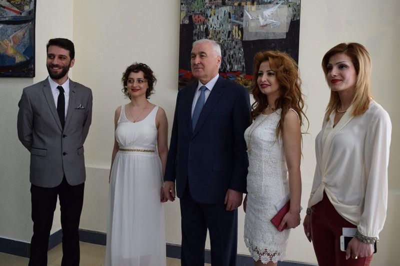 Леонид Тибилов принял участие в открытии выставки работ сирийских художников