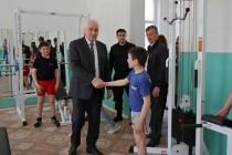 1. Церемония открытия спортивного зала в селе Хвце Дзауского района