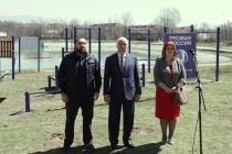 2. Открытие спортивной площадки WorkOut на берегу Цхинвальского озера