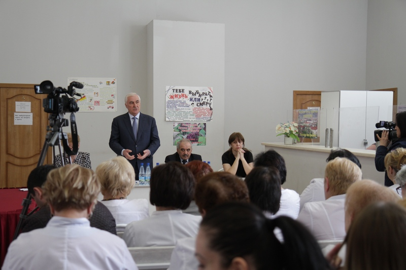 Встреча с коллективом Цхинвальской городской поликлиники