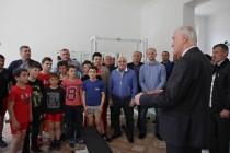 3. Церемония открытия спортивного зала в селе Хвце Дзауского района