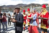 5. Церемония открытия спортивной площадки в райцентре Дзау (часть I)