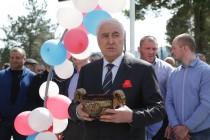 7. Церемония открытия спортивной площадки в райцентре Дзау (часть I)