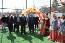 9. Церемония открытия спортивной площадки в райцентре Дзау (часть I)
