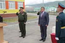 2. Анатолий Бибилов поздравил российских военнослужащих с открытием детского сада
