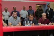 7. Открытие боксерского зала в стенах Детско-юношеской спортивной школы г. Цхинвал