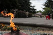 1. Торжественная церемония приведения к присяге новобранцев Вооруженных сил Республики Южная Осетия
