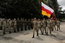 2. Торжественная церемония приведения к присяге новобранцев Вооруженных сил Республики Южная Осетия