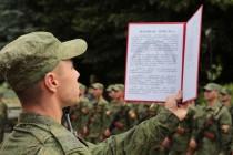 6. Торжественная церемония приведения к присяге новобранцев Вооруженных сил Республики Южная Осетия