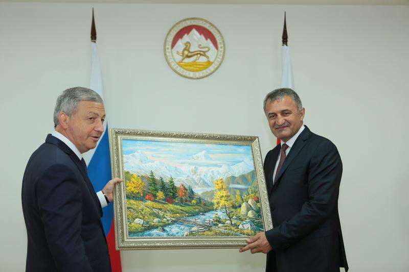 Встреча с Главой Республики Северная Осетия-Алания Вячеславом Битаровым