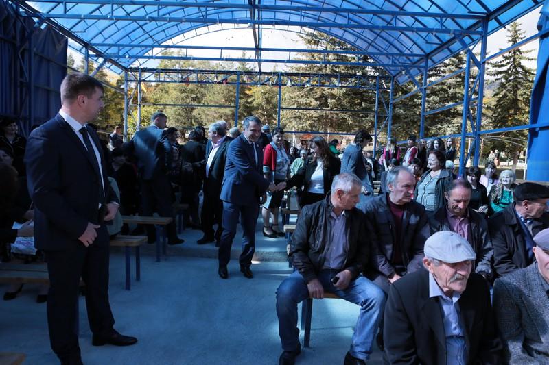 Встреча с жителями райцентра Дзау и Дзауского района