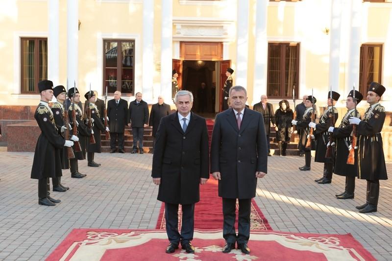 Официальный визит Рауля Хаджимба в Республику Южная Осетия