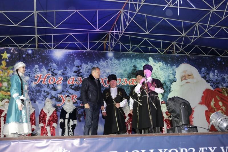 Новогодняя ночь на главной площади Цхинвала