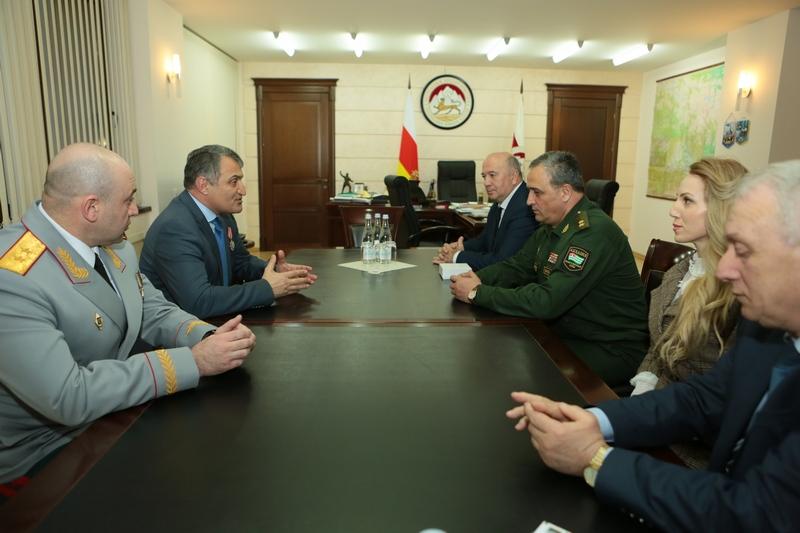 Встреча с делегацией Министерства обороны Республики Абхазия
