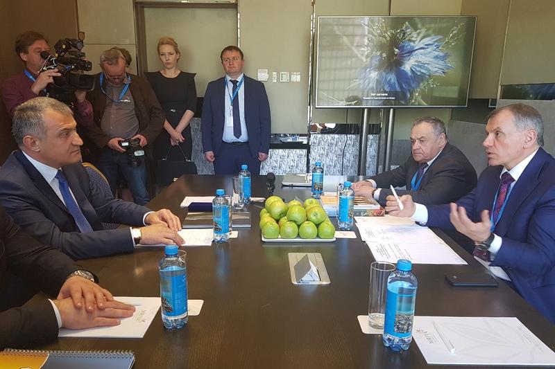 Встреча с Председателем Государственного Совета Республики Крым Владимиром Константиновым