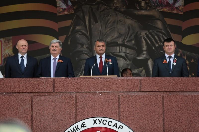 Военный парад в честь празднования 73-й годовщины Великой Победы