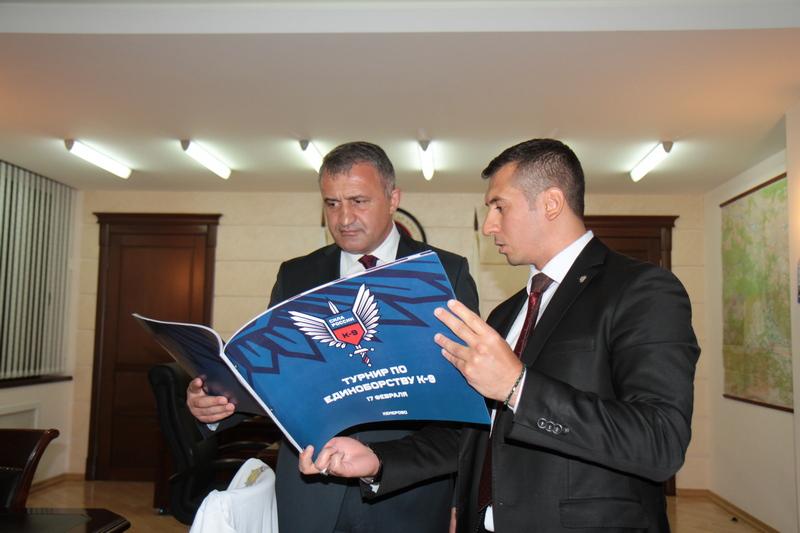 Встреча с Президентом Федерации служебно-прикладной подготовки силовых структур «К -9» Зауром Абдурагимовым