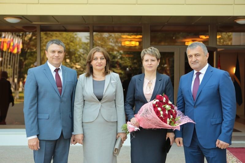 Встреча с главами делегаций, прибывших в Цхинвал на празднование 10-й годовщины признания независимости Республики Южная Осетия Российской Федерацией