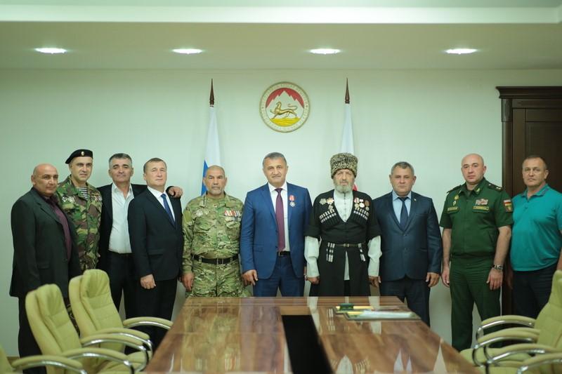 Встреча с делегацией Союза абхазских добровольцев Кабардино-Балкарской Республики