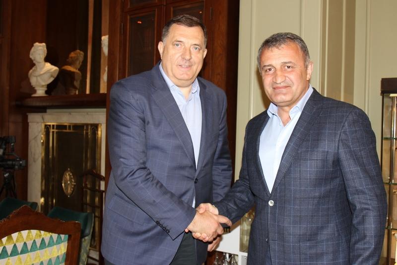 Анатолий Бибилов поздравил Милорада Додика с избранием в Президиум Боснии и Герцеговины