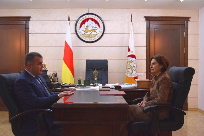 Встреча с директором Государственного драматического театра им. Коста Хетагурова Мадиной Валиевой